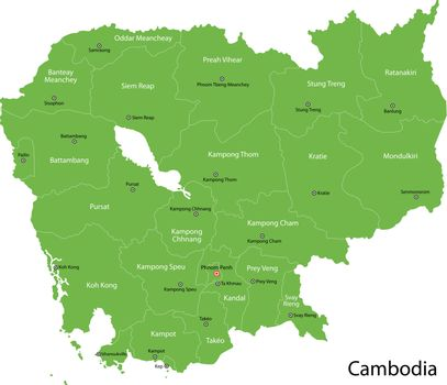 Green Cambodia map