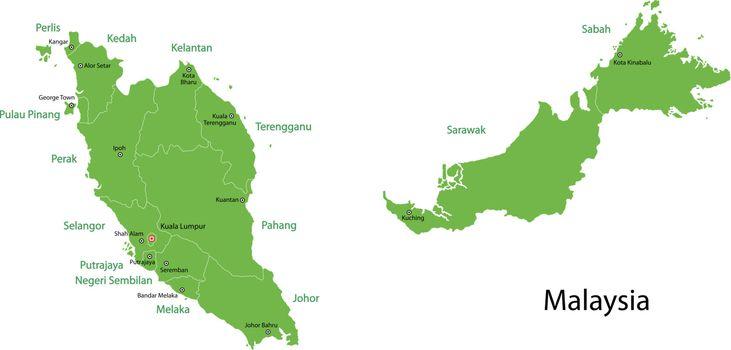 Green Malaysia map
