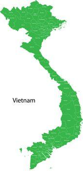 Green Vietnam map