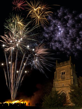 Firework Display on 5th November in England