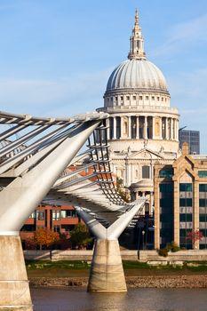 Millennium Bridge with St Pauls Cathedral