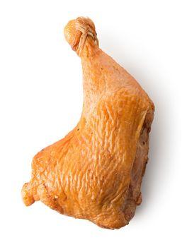 Smoked chicken leg quarter