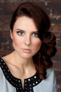 Glamor portrait of a beautiful woman