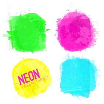Neon Watercolor Squares Collection