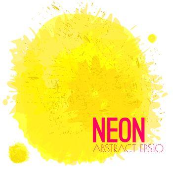 Neon Watercolor Splatter