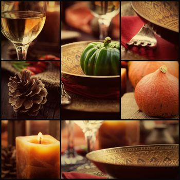 Autumn dinner collage