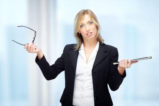 Businesswoman in crisis