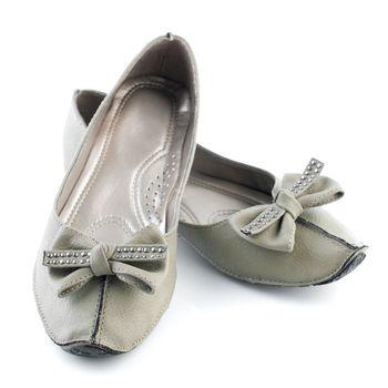 Woman casual grey flat shoes