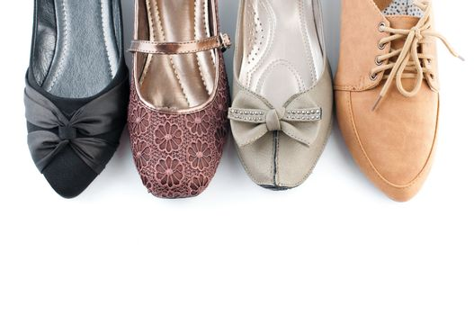 Various female flat shoes
