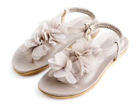 Woman opened toes summer flat shoes