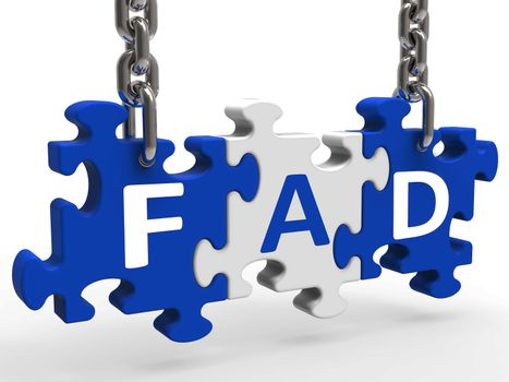 Fad Puzzle Shows Latest Thing Or Craze