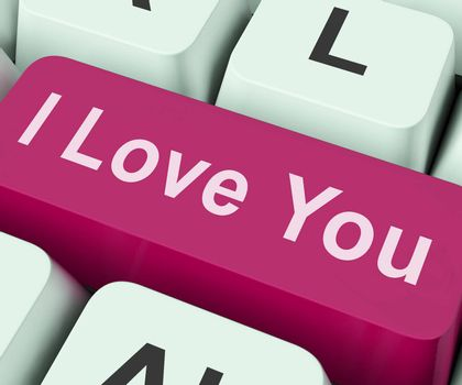 I Love You Key Showing Loving Or Romance Online