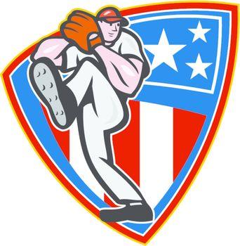 American Baseball Pitcher Shield