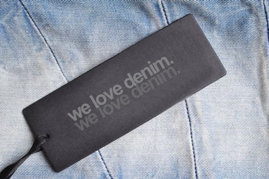 jeans with a tag