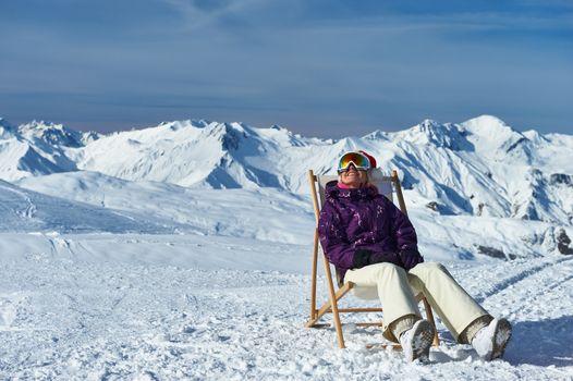 Apres ski at mountains during christmas