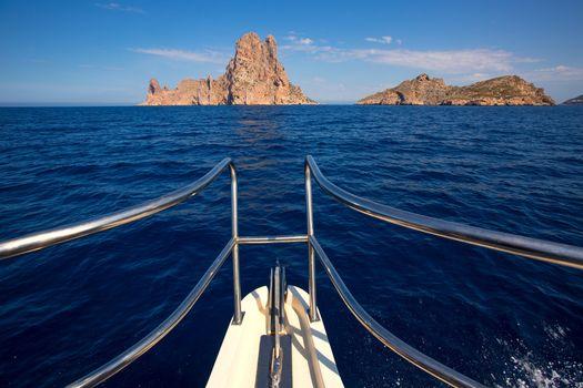 Boating sailing in Ibiza near es Vedra island