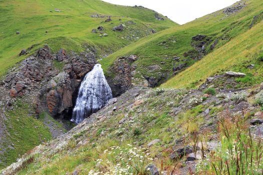 Waterfall Girlish Braids between the mountains of Northern Cauca