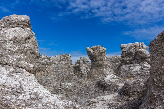 Rock formations on the Swedish coastline