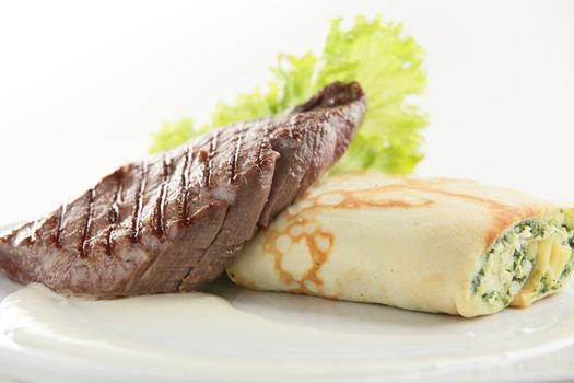 roaster meat with garnish