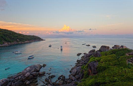 Sunrise over the Andaman Sea