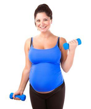 Pregnant woman do exercise