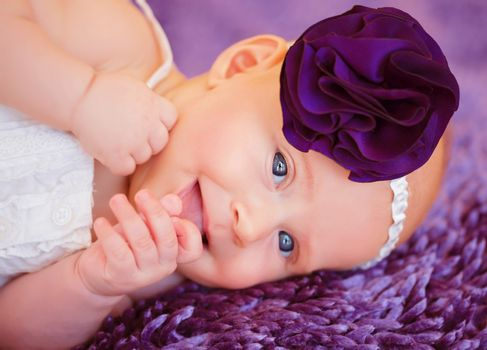 Stylish newborn baby