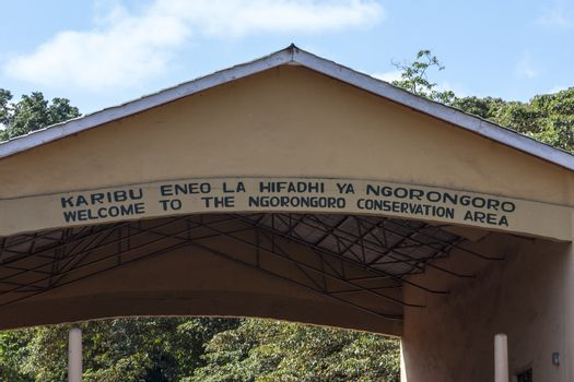 The Main Entry of Serengeti National Park.
