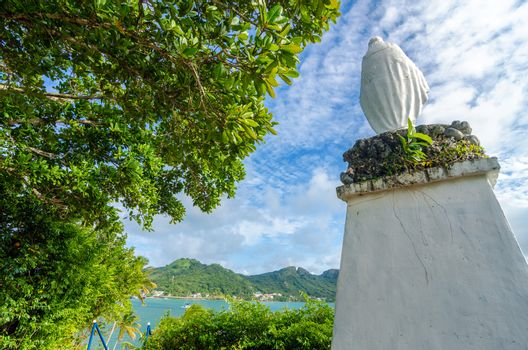 Statue of the Virgin Mary on San Andres y Providencia, Colombia