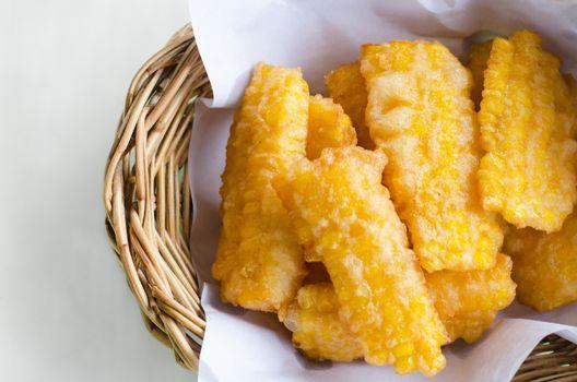 Deep fried corn