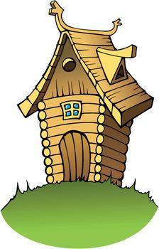 Cartoon wooden house