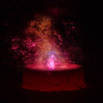 science background, plasma discharge in water