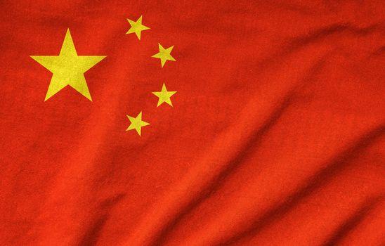 Ruffled China Flag