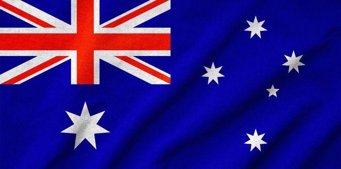 Ruffled Australia Flag