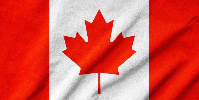 Ruffled Canada Flag
