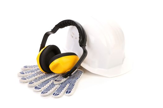 Protective ear muffs and gloves