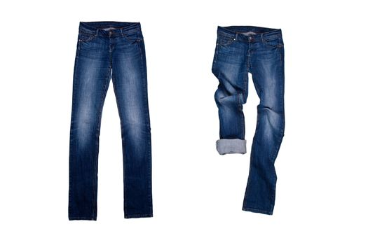 two blue jeans
