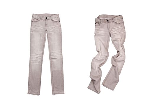 two grey jeans