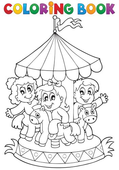Coloring book carousel theme 1