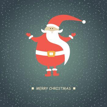 Christmas card with Santa Klaus