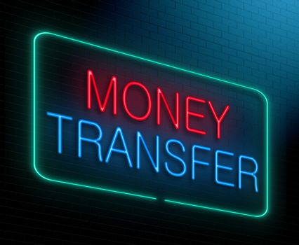 Money transfer concept.
