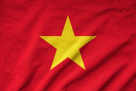 Ruffled Vietnam Flag