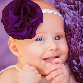 Stylish newborn girl