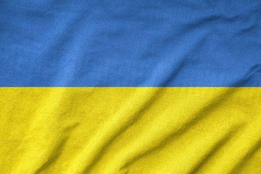 Ruffled Ukraine Flag