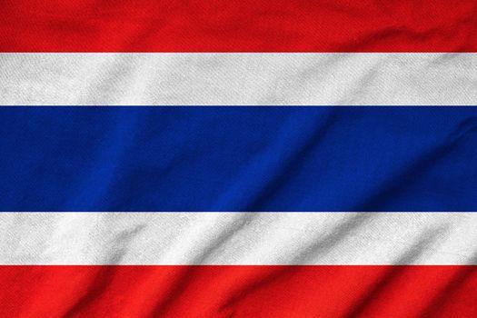 Ruffled Thailand Flag