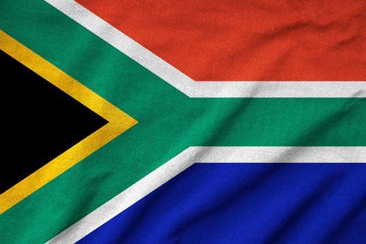 Ruffled South Africa Flag