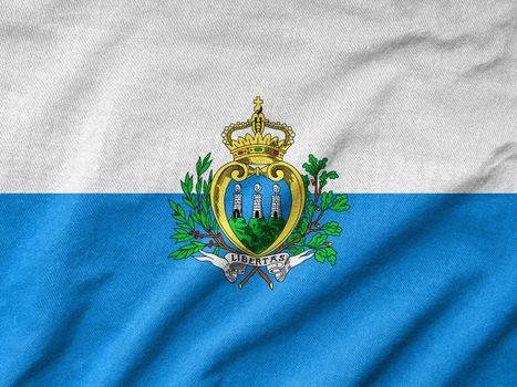 Ruffled San Marino Flag