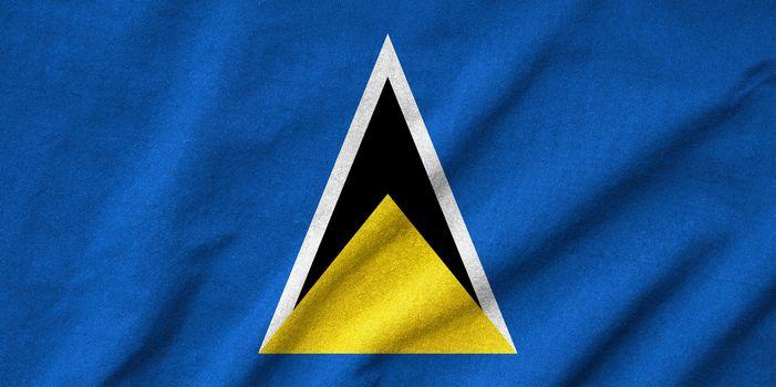 Ruffled Saint Lucia Flag