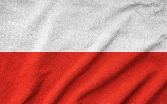 Ruffled Poland Flag