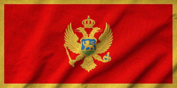 Ruffled Montenegro Flag