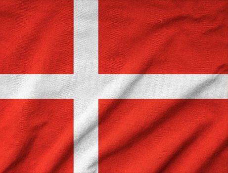 Ruffled Denmark Flag